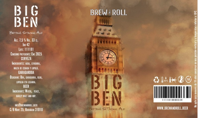 BREW & ROLL BIG BEN / BRITISH STRONG ALE